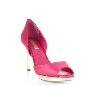 BcbgMaxAzria Pink/Silver Heels